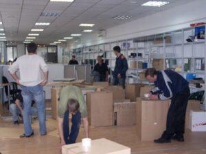 Упаковка документов при офисном переезде