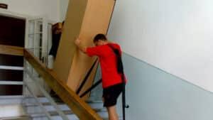 Подъем шкафа на этаж